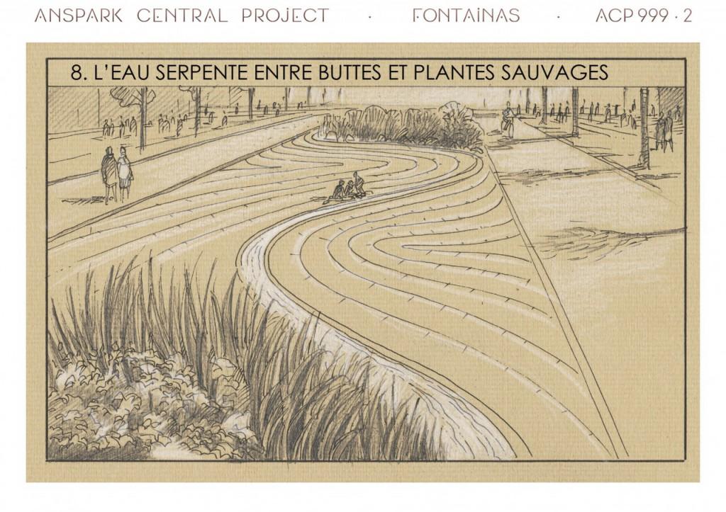 Cette partie du projet rappelle Hyde Park et sa serpentine