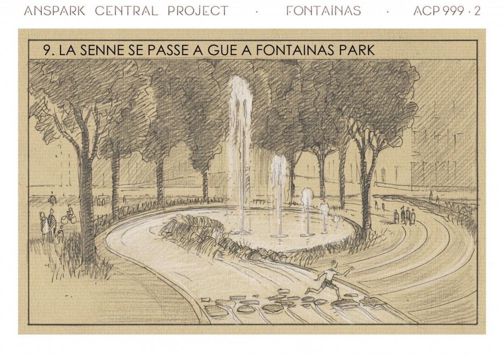 Cette partie rappelle le Diana Memorial Fountain de Hyde Park