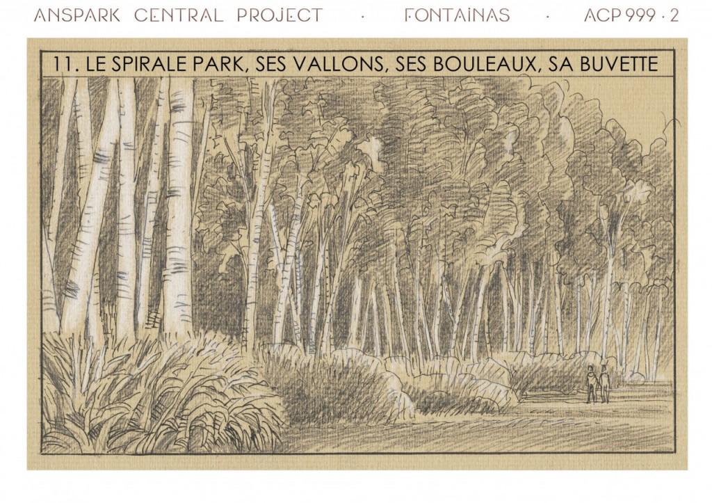 Le bois du parc du piétonnier géant