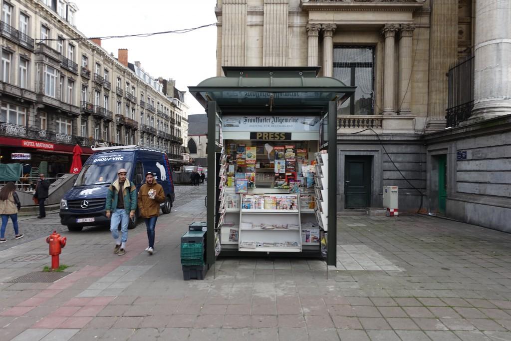 Le kiosque de la place de la Bourse