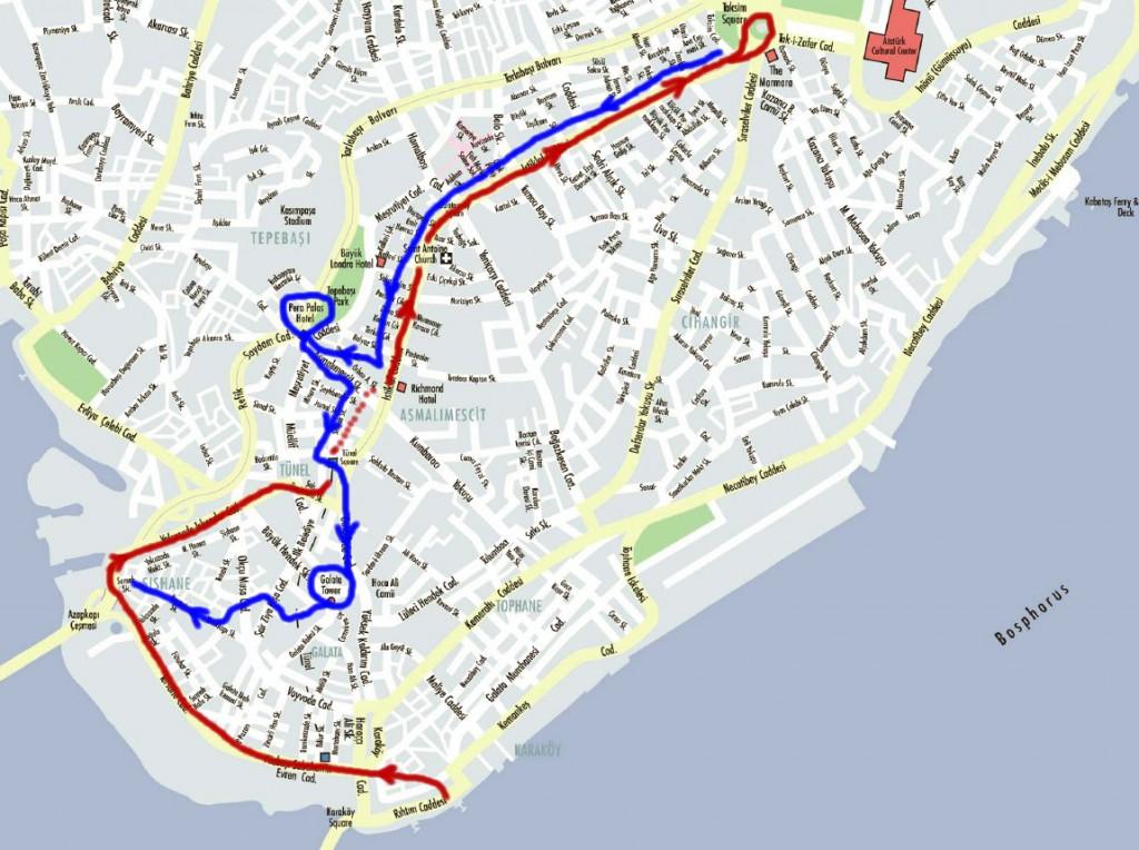 Plan de Beyoglu
