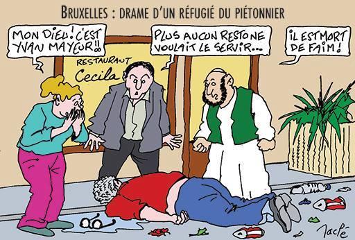 Cette caricature montre à quel point Yvan Mayeur est devenu indésirable dans sa propre ville
