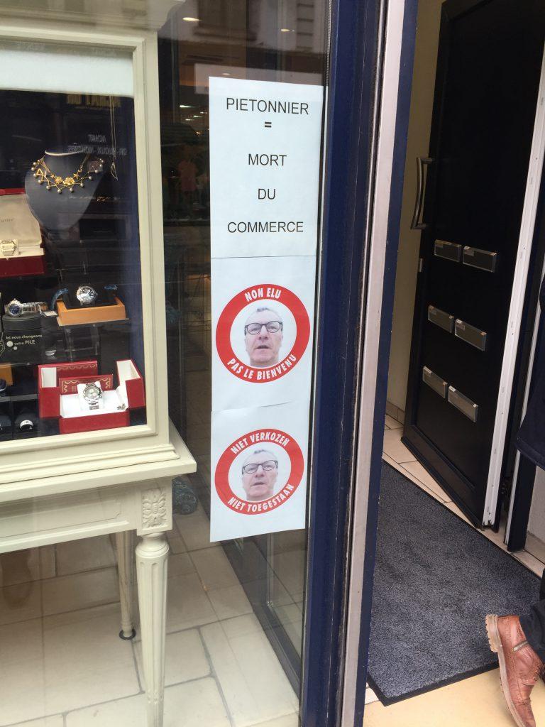 La vitrine de la boutique de Michel Wajs