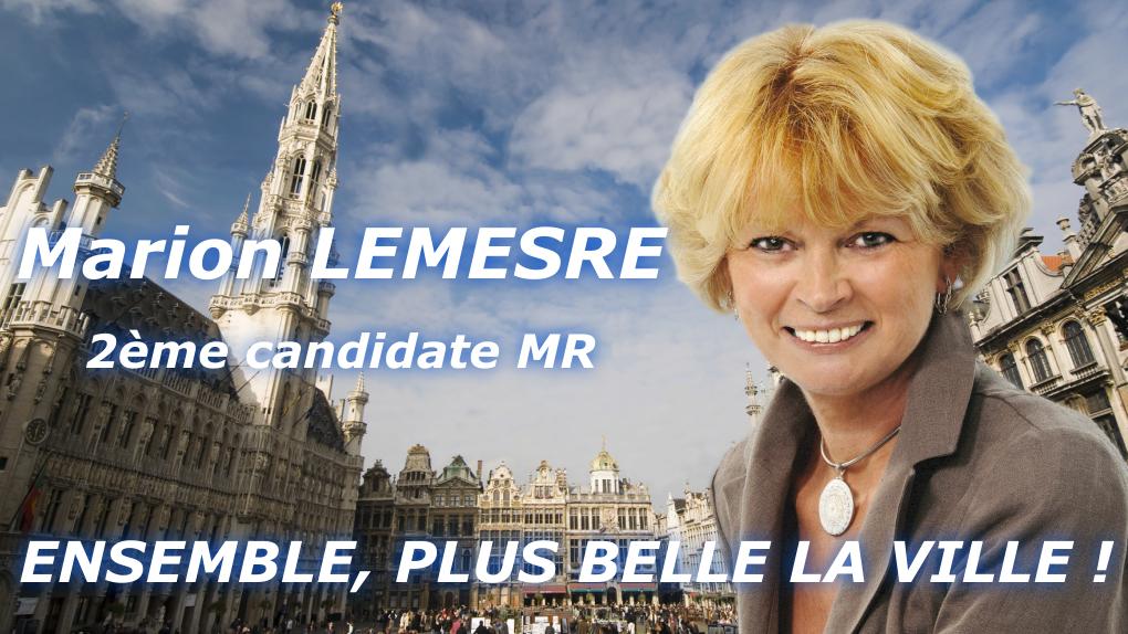 """L'affiche électorale de Marion Lemesre, la """"fille de commerçants"""""""