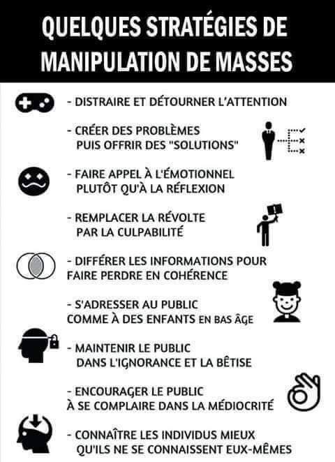 Exemples de stratégies de manipulation de masses