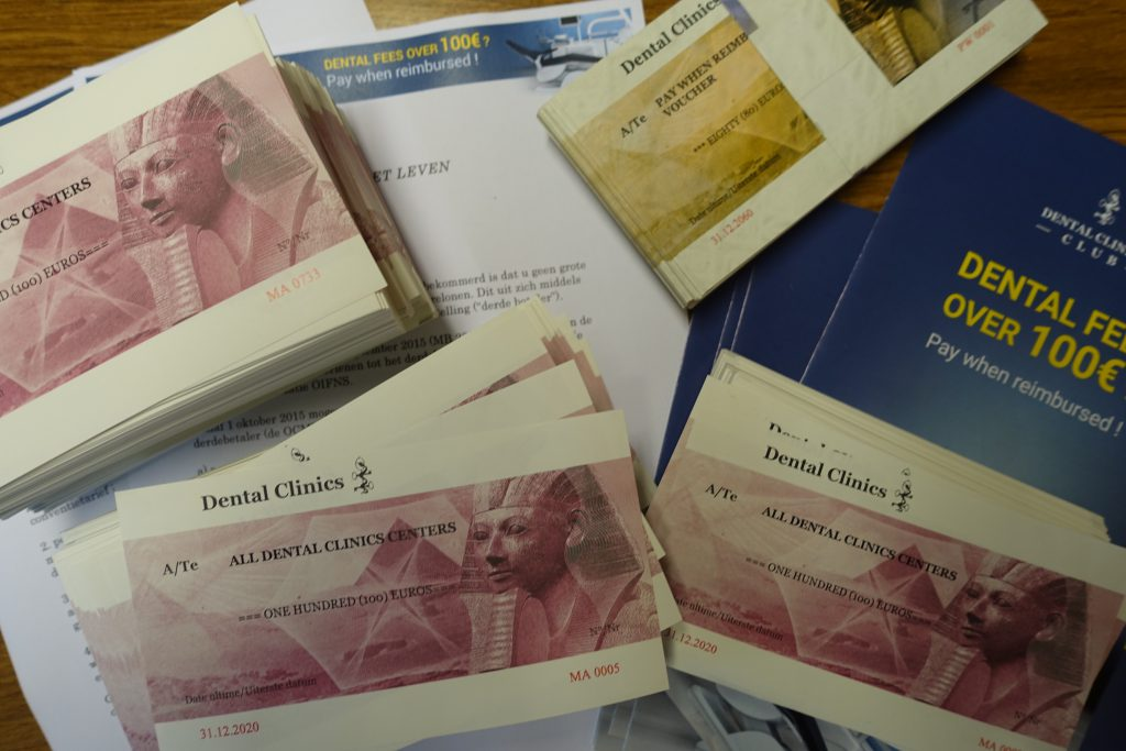 Plusieurs membres du GIESS utilisent déjà des vouchers pour des raisons de sécurité et d'hygiène : l'argent est échangé à l'accueil et le dentiste ne reçoit que des titres