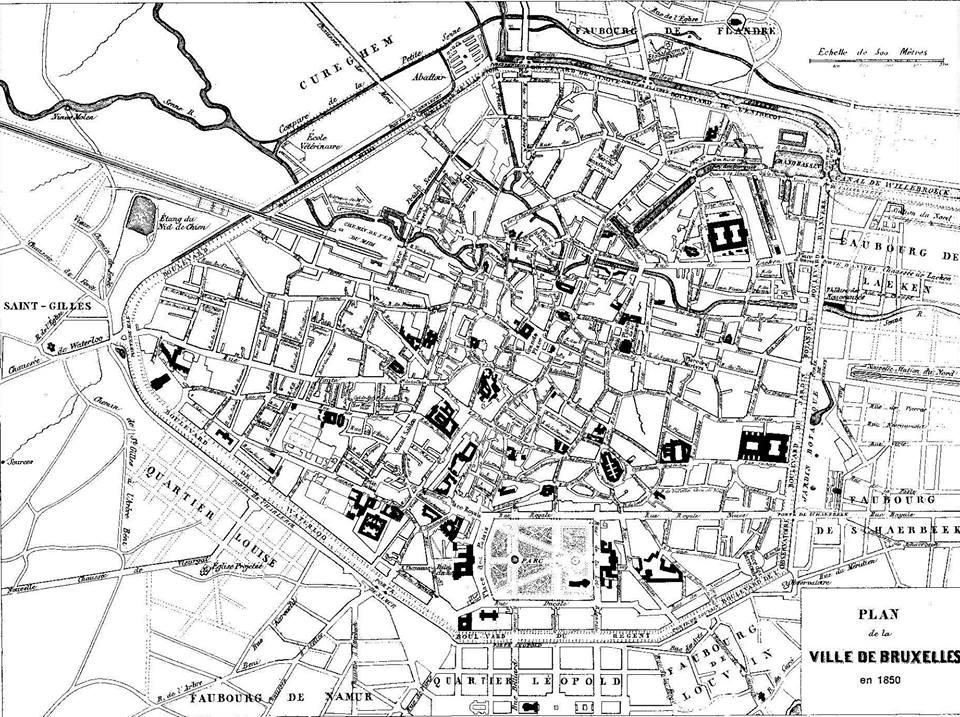 Bruxelles en 1850