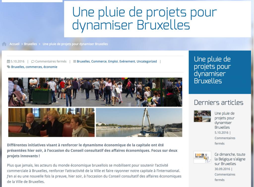 """Marion Lemesre annonce """"Une pluie de projets pour dynamiser Bruxelles"""""""