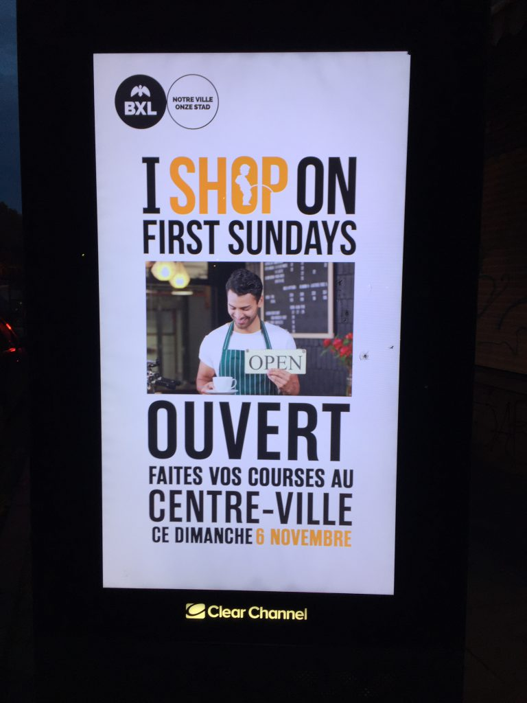 """I shop on first Sundays"""